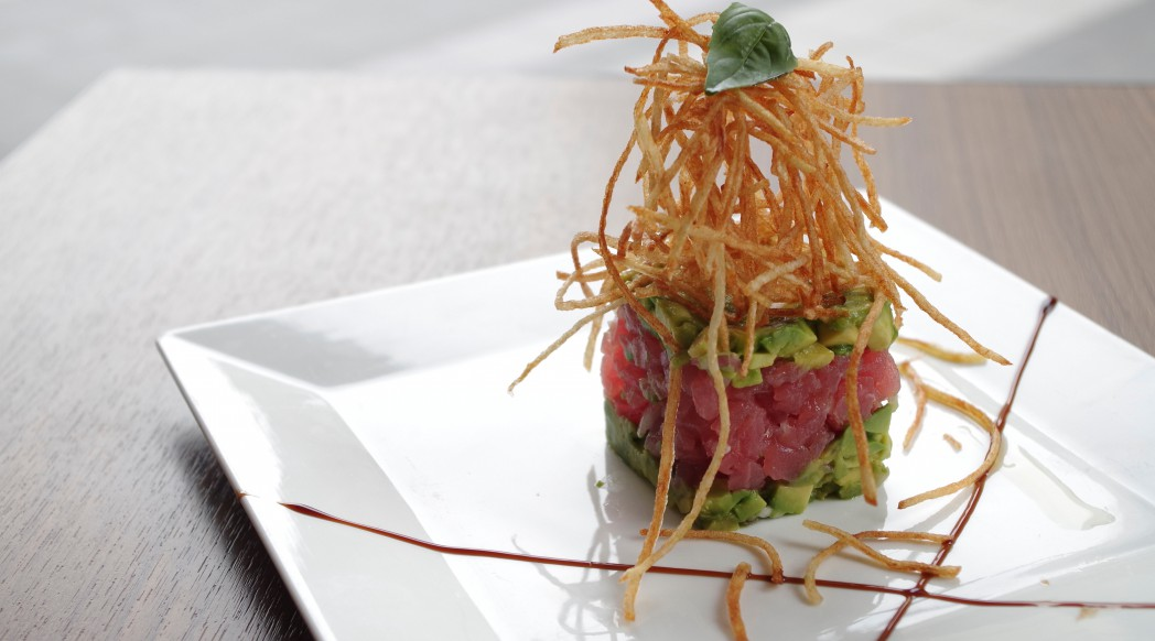 DiVino Patio - Layered maguro tuna and avocado tartar