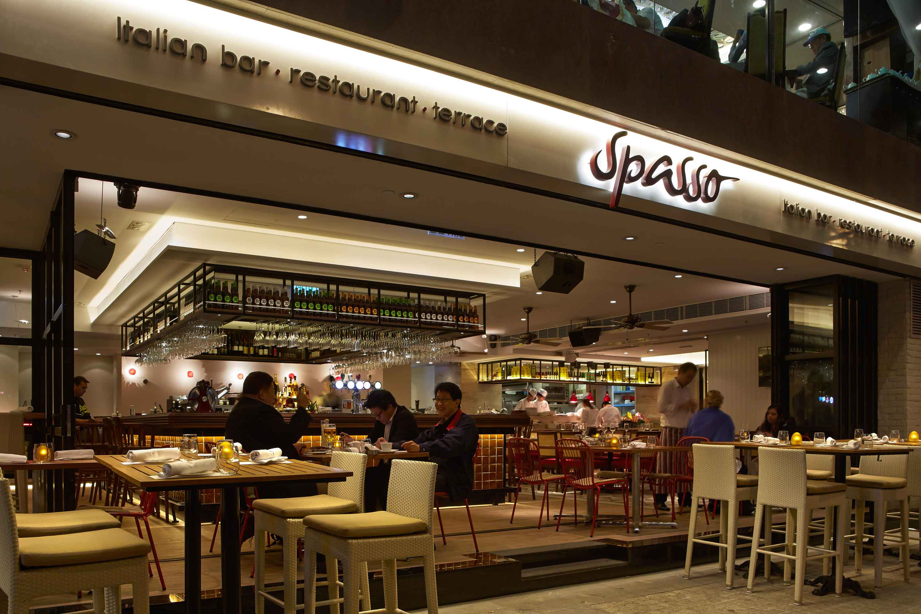 After dinnertime, Spasso offers a condensed menu of pastas, pizzas, burgers and desserts for the hungry late-night crowd.