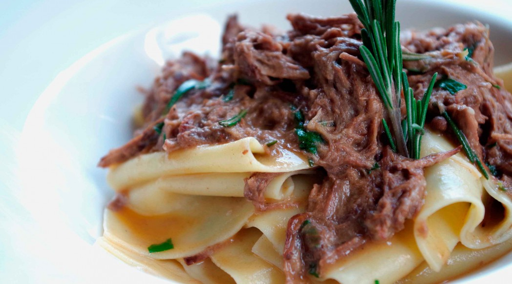 DiVino Patio - Hand-made large pappardelle tossed with Tuscan wild boar ragout