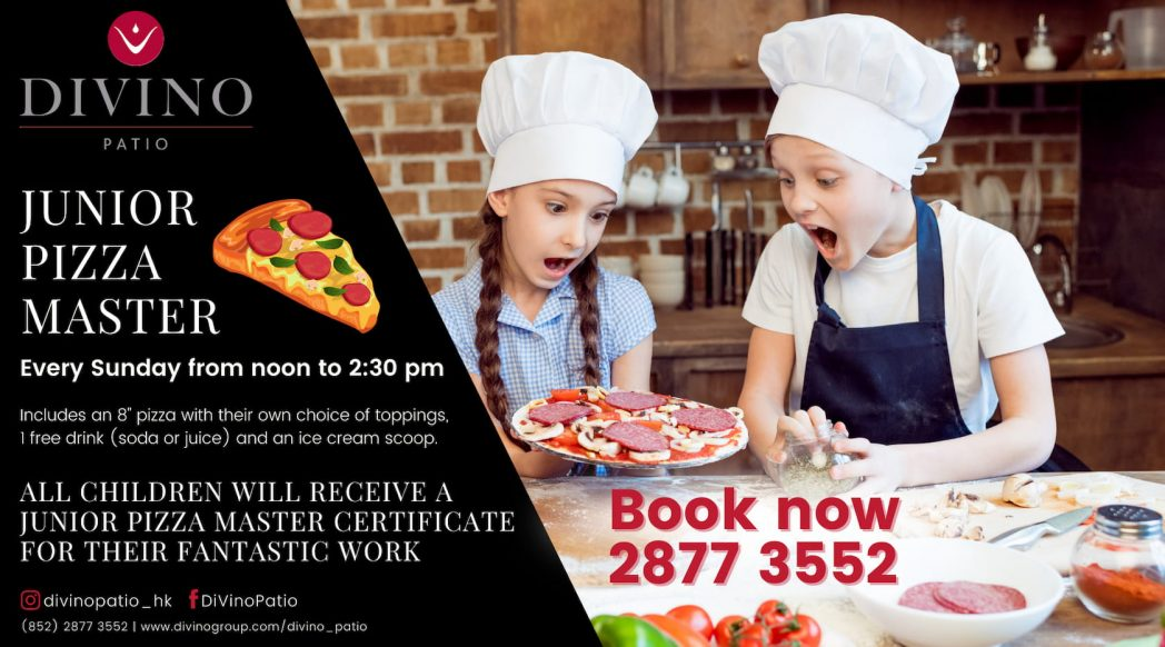 Kids Make Pizza at DiVino Patio Brunch