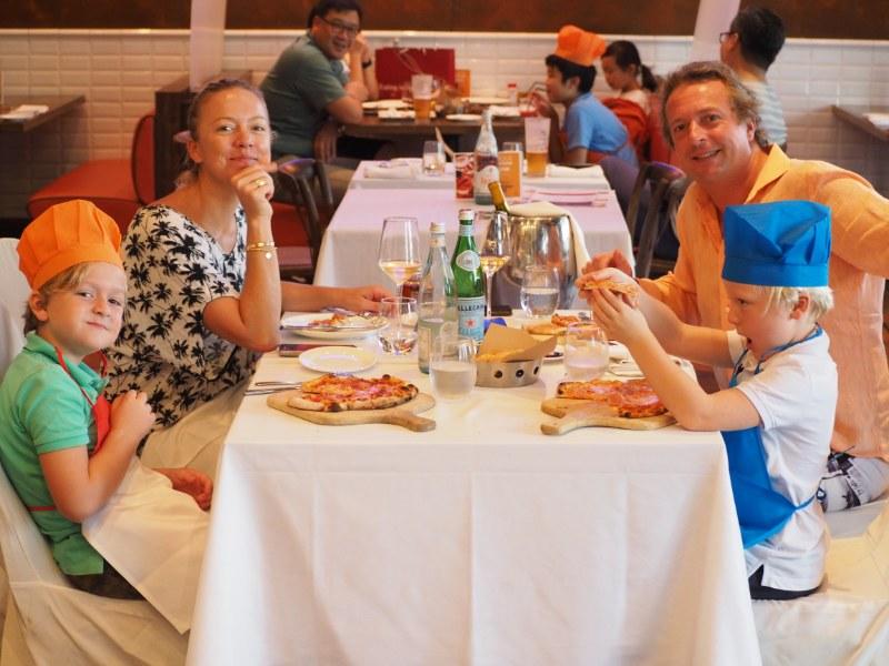 Kids Make Pizza at DiVino Patio Hong Kong Pizzeria and Restaurant 3