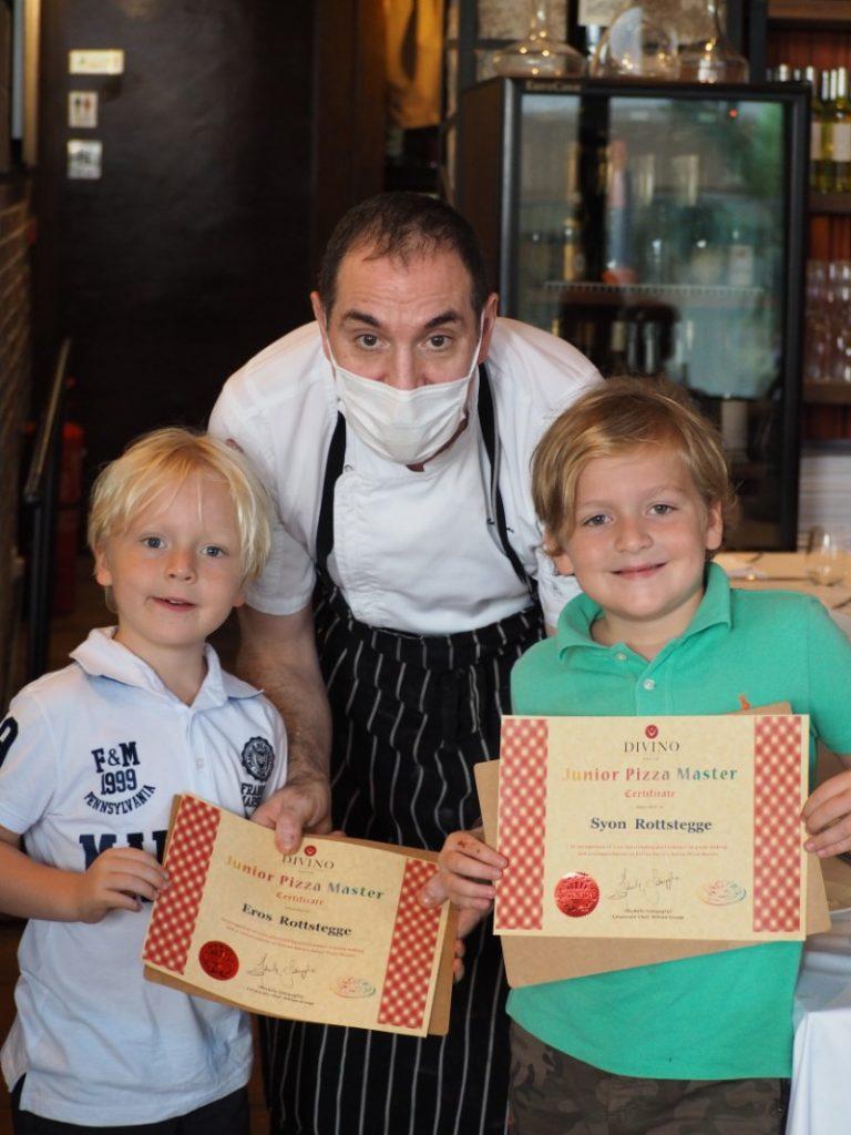 Kids Make Pizza at DiVino Patio Hong Kong Pizzeria and Restaurant 7