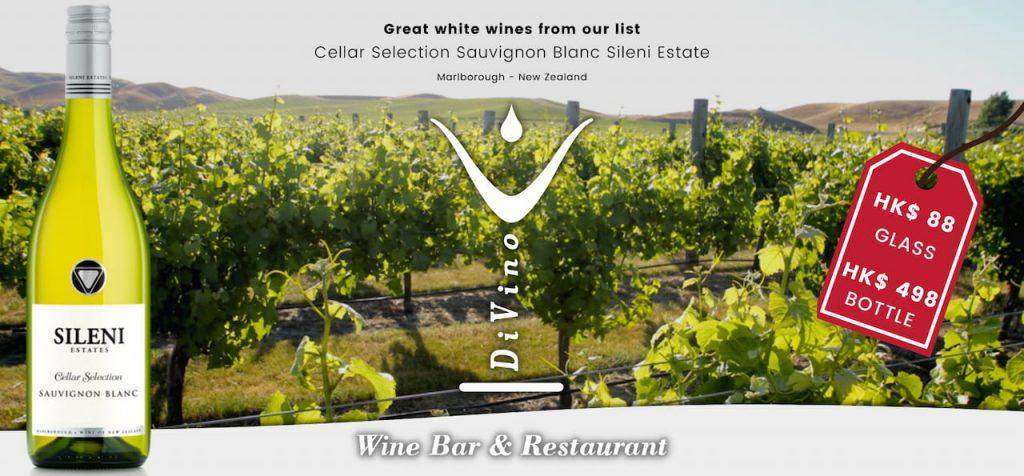 best wine bar hong kong - Cellar Selection Sauvignon Blanc Sileni Estate